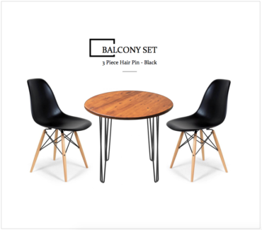 3 Piece Round Balcony Set - Chair Package