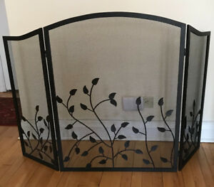 Metal fireplace screen $50