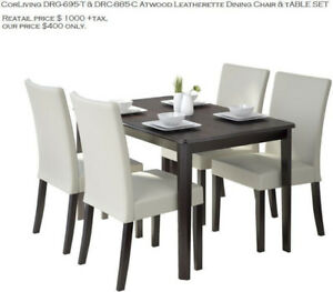 CORLIVING DINNING SET ( TABLE & 4 CHAIR )