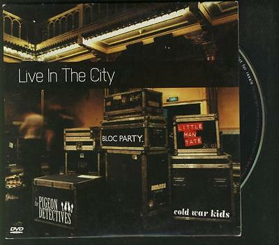 LIVE IN THE CITY PROMO DVD SINGLE Pigeon Detectives Bloc Party Cold War - Party City Promo