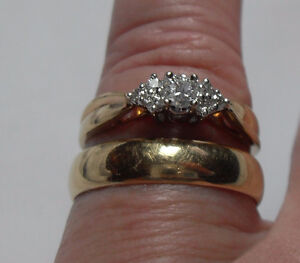14kt yellow gold Wedding Ring Set (5mm band) - Price $1350.00