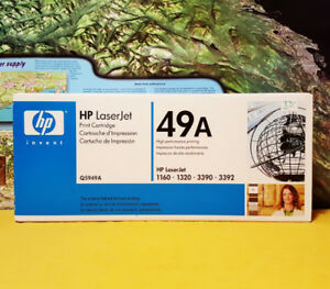NEW ~ GENUINE HP 49A Q5949A Black Toner Cartridge ~ 1160 1320