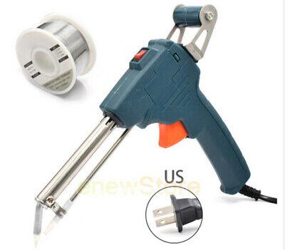 60w 110v Manual Automatic Send Tin Gun Electric Soldering Iron Rework Tools Kit