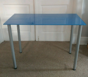 Ikea Glasholm Blue desk/table perfect for a student!