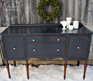 Beautifully restyled vintage sideboard with exposed legs!