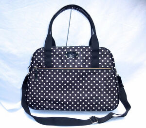 "NWT Kate Spade ""Milla"" Spot Nylon Weekend/Carry-on/Duffel Bag Stratford Kitchener Area image 1"