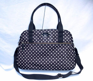 "NWT Kate Spade ""Milla"" Spot Nylon Weekend/Carry-on/Duffel Bag"