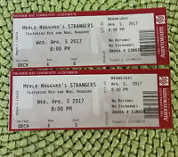 MERLE HAGGARD'S STRANGERS  2 TICKETS FOR SALE
