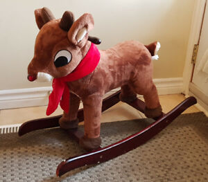 RUDOLPH THE RED NOSED REINDEER RIDING ROCKER ROCKING HORSE