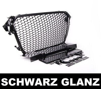 Waben Kühlergrill für Audi A4 B8 8K Hochglanz Schwarz S4 RS4 look 12-15 Facelift Klavier Schürze