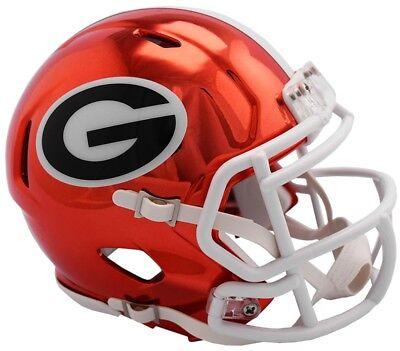 Georgia Bulldogs 2018 Alternate Chrome NCAA Riddell Speed Mini Helmet
