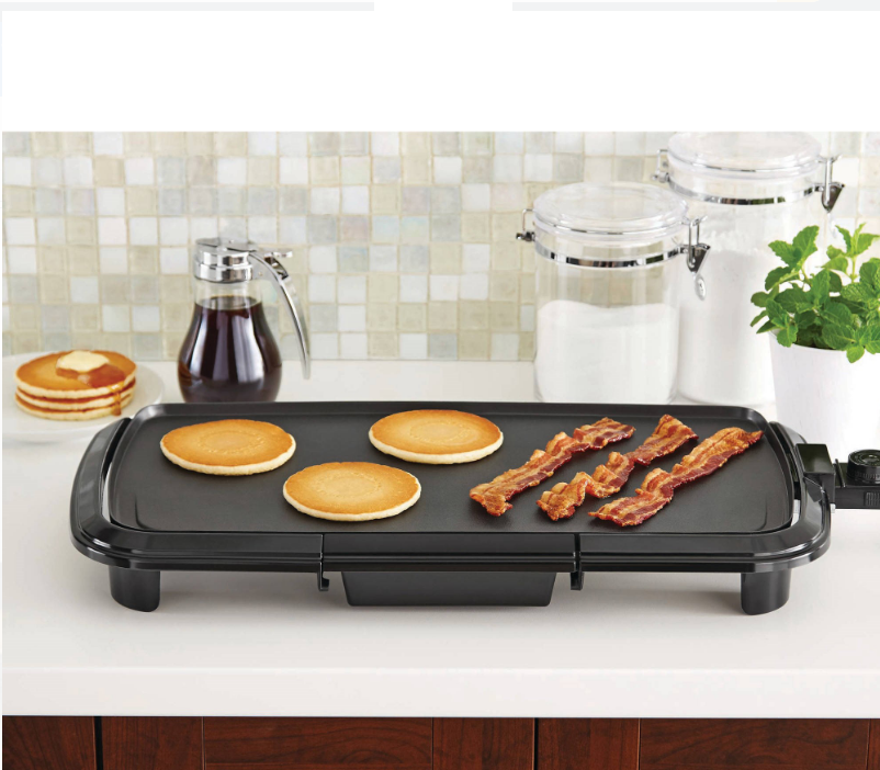 Grill Griddle Electric Non Stick Flat Top Indoor Countertop