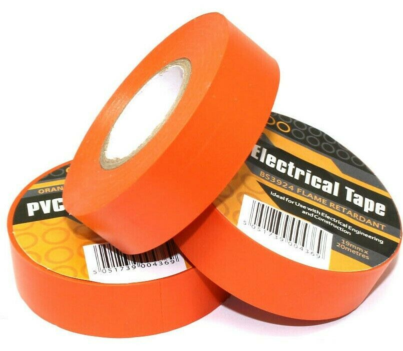 PVC Electrical Insulation Tape 19mm x 33m Green Pack of 10 Flame Retardant