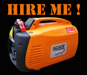 Inverter Generator 1700w twin outlet FOR HIRE Melbourne CBD Melbourne City Preview
