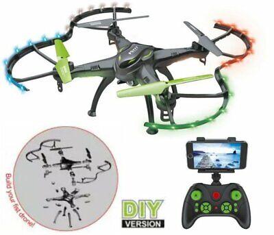 DIY RC Drone FQ777 FQ01 Quadcopter WIFI FPV Camera 2.4G 4CH Black, P06