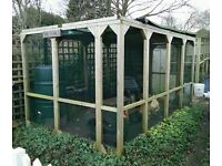 Aviary for sale, made for chickens (I used for parrot) Large