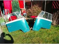 Volkswagen splitscreen campervan 1960s front doors in original condition
