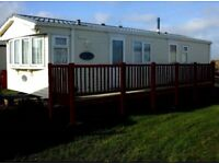 6 birth caravan east-coast c-heating double glazed. Permanent lease, sites open 12 months a year.