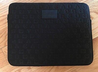 "Marc by Marc Jacobs Neoprene 15"" Black Computer Laptop iPad Case Sleeve. Logo."