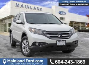 2012 Honda CR-V EX-L LOW KMS, OOP