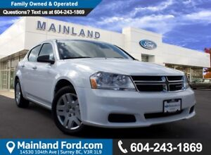 2013 Dodge Avenger NO ACCIDENTS, LOCAL, LOW KMS