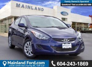 2013 Hyundai Elantra GL LOW KMS, ACCIDENT FREE, BC LOCAL
