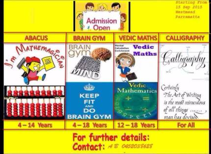 Perfect gift for Kids - Abacus, Brain Gym & Calligraphy Classes Westmead Parramatta Area Preview