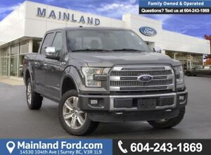 2016 Ford F-150 Platinum *ACCIDENT FREE* * LOCALLY DRIVEN*