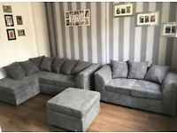 DYLAN JUMBO CORD SOFA 🔥WITH FREE FOOTSTOOL AND FREE DELIVERY AVAILABLE IN CORNER OR 3+2 SEATER
