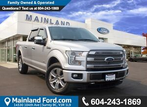 2015 Ford F-150 Platinum LOCAL,