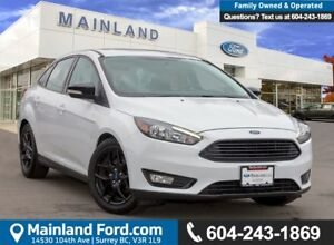 2016 Ford Focus SE ACCIDENT FREE, BC LOCAL, LOW KMS