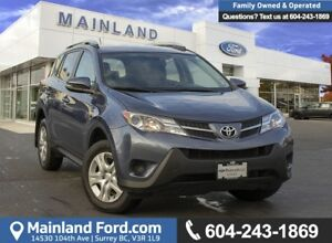 2014 Toyota RAV4 LE ***LOW KMS, ACCIDENT FREE, EX LEASE***