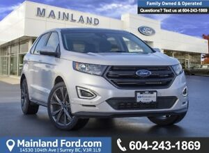 2018 Ford Edge Sport ACCIDENT FREE, LOCALLY DRIVEN, EX RENTAL...