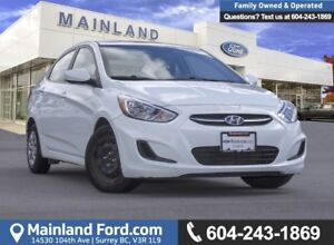 2016 Hyundai Accent SE LOW KMS, ACCIDENT FREE, BC LOCAL