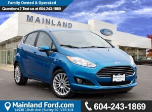 2015 Ford Fiesta Titanium LOCAL BC, LOW KMS, CERTIFIED PRE-OWNED