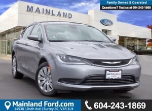 2016 Chrysler 200 LX LOW KMS, BC LOCAL, ACCIDENT FREE