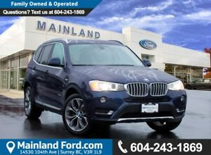 2015 BMW X3 xDrive28d LOW KMS, LOCAL BC