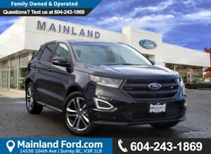 2017 Ford Edge Sport ACCIDENT FREE, LOW KMS, BC LOCAL
