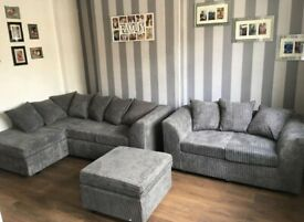 BRAND NEW DYLAN SOFA IN GREY ON SALE IN CORNER AND 3+2 AVAILABLE IN DIFFERENT COLOURS