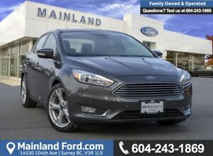 2015 Ford Focus Titanium ACCIDENT FREE, BC LOCAL, LOW KMS