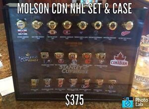 MOLSON CANADIAN NHL RING SET With COLLECTOR CASE