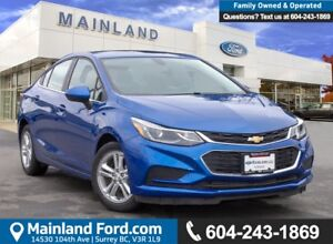 2017 Chevrolet Cruze LT Auto ACCIDENT FREE, BC LOCAL, LOW KMS