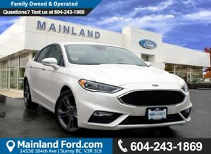 2017 Ford Fusion V6 Sport LOW KMS, ACCIDENT FREE, BC LOCAL