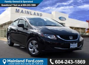 2015 Honda Civic LX LOCAL, NO ACCIDENTS, LOW KMS