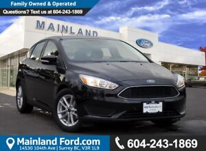 2017 Ford Focus SE LOW KMS, LOCAL BC