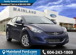 2013 Hyundai Elantra GL NO ACCIDENTS, LOW KMS