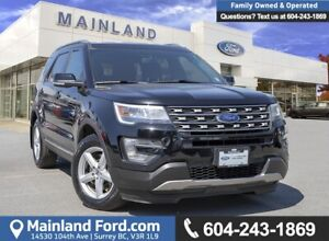 2017 Ford Explorer XLT LOW KMS, ACCIDENT FREE, BC LOCAL