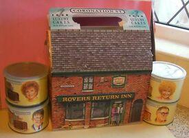 Coronation Street tins.....