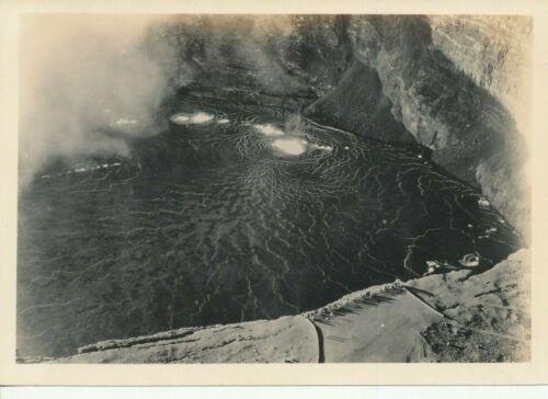 1930s Looking down into Kilauea Volcano  5x7 Photo
