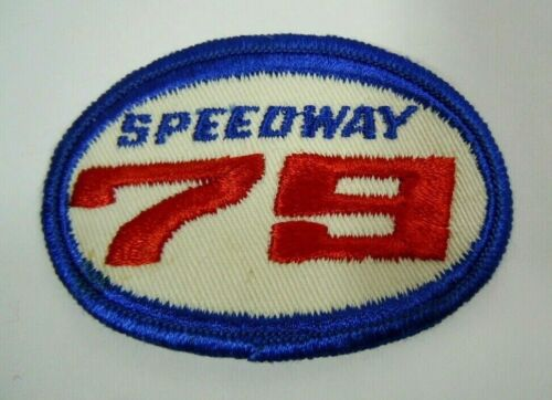 "Vintage SPEEDWAY ""79"" Embroidered Sew-On Uniform-Jacket Patch 3""x2"""